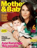 on the cover of Mother and Baby (Turkey) - October 2012