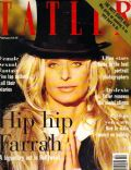Farrah Fawcett on the cover of Tatler (United Kingdom) - February 1995
