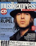 Liam Gallagher on the cover of Musik Express (Germany) - February 2000