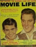 Anthony Perkins, Elvis Presley on the cover of Movie Life (United States) - June 1957