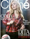 Cody Kennedy on the cover of Cliche (United States) - June 2009