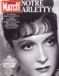 Arletty on the cover of Paris Match (France) - August 1992