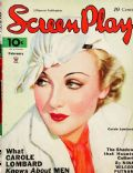 Carole Lombard on the cover of Screen Play (United States) - February 1935