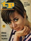Elena María Tejeiro on the cover of Teleprograma (Spain) - October 1967
