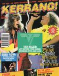 Edward Van Halen, Sammy Hagar on the cover of Kerrang (United Kingdom) - January 1993
