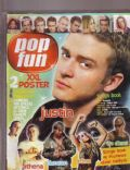 Avril Lavigne, Beyoncé Knowles, Christina Aguilera, Duncan James, Justin Timberlake, Vin Diesel on the cover of Pop Fun (Turkey) - August 2004