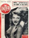 Rita Hayworth on the cover of Inter (France) - May 1949