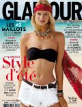 Nadine Leopold on the cover of Glamour (France) - June 2014