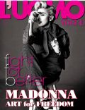 Madonna on the cover of L Uomo Vogue (Italy) - May 2014