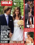 Astrid Klisans, Carlos Baute on the cover of Hola (Spain) - June 2011