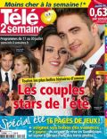 Kristen Stewart, Robert Pattinson on the cover of Tele 2 Semaines (France) - July 2010
