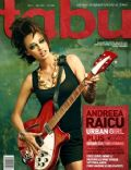 Andreea Raicu on the cover of Tabu (Romania) - May 2006