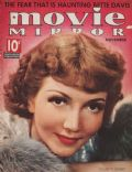 Claudette Colbert on the cover of Movie Mirror (United States) - November 1937