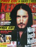 Trent Reznor on the cover of Kerrang (United Kingdom) - September 1997