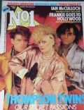 Alannah Currie, Joe Leeway, Tom Bailey on the cover of No1 (United Kingdom) - December 1984