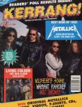 James Hetfield, Jason Newsted, Kirk Hammett, Lars Ulrich on the cover of Kerrang (United Kingdom) - January 1993