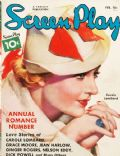 Carole Lombard on the cover of Screen Play (United States) - February 1936