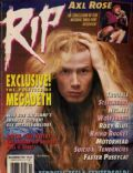 Dave Mustaine on the cover of Rip Magazine (United States) - November 1992