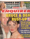 Bruce Willis, Demi Moore on the cover of National Enquirer (United States) - July 1998