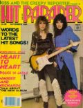 Ann Wilson, Nancy Wilson on the cover of Hit Parader (United States) - November 1980