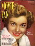 Esther Williams on the cover of Movie Fan (United States) - July 1952