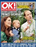 Kate Middleton, Prince George of Cambridge, Prince William Windsor on the cover of Ok (United Kingdom) - July 2014
