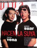 Adrian Suar, Fabián Vena on the cover of Viva (Argentina) - December 1995