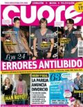 Carlos Baute, Cristiano Ronaldo, Johnny Depp on the cover of Cuore (Spain) - January 2012