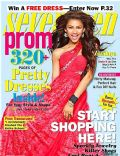 Zendaya on the cover of Seventeen Prom (United States) - February 2013