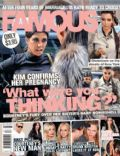 Kim Kardashian, Kourtney Kardashian on the cover of Famous (Australia) - October 2010