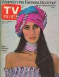 Cher on the cover of TV Guide (United States) - April 1975
