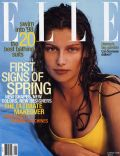 Laetitia Casta on the cover of Elle (United States) - January 1996