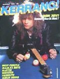 Jon Bon Jovi on the cover of Kerrang (United Kingdom) - April 1985