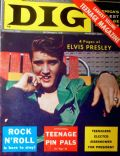 Elvis Presley on the cover of Dig (United States) - November 1956