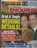 Angelina Jolie, Brad Pitt on the cover of National Enquirer (United States) - April 2011
