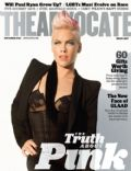 Pink on the cover of The Advocate (United States) - November 2012