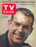 Fred MacMurray on the cover of TV Guide (United States) - August 1963