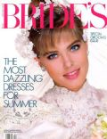 Renée Simonsen on the cover of Brides (United States) - April 1986