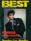Pat Benatar on the cover of Best (France) - December 1984