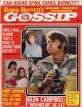 Bobby Sherman, Glen Campbell, Lucille Ball on the cover of Rona Barretts Gossip (United States) - April 1973