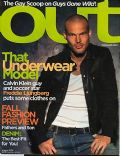 Fredrik Ljungberg on the cover of Out (United States) - August 2004