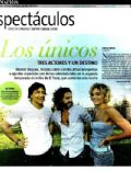 Emilia Attías, Nicolás Cabré, Nicolas Vazquez on the cover of La Nacion (Argentina) - February 2012