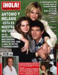 Antonio Banderas, Antonio Banderas and Melanie Griffith, Melanie Griffith, Stella Banderas on the cover of Hola (Spain) - April 2010