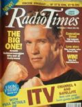 Arnold Schwarzenegger on the cover of Radio Times (United Kingdom) - February 1991
