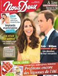 Kate Middleton, Prince William Windsor on the cover of Nous Deux (France) - August 2013