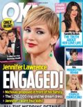 Jennifer Lawrence, Nicholas Hoult, Sandra Bullock on the cover of Ok (United States) - February 2014