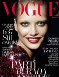 Karmen Pedaru on the cover of Vogue (Turkey) - December 2013