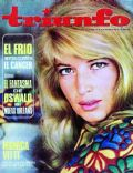 Monica Vitti on the cover of Triunfo (Spain) - March 1967