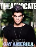 Adam Lambert on the cover of The Advocate (United States) - November 2011