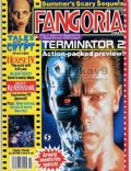 Arnold Schwarzenegger on the cover of Fangoria (United States) - July 1991